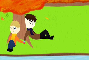 JohnLock- Autumn Sun by Dragonsong3