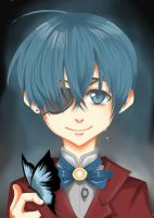 Ciel Phantomhive- Bird by thumbelin0811