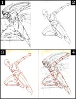 Fantasy Life Drawing Lesson 004 Action pose by SpiritedFool
