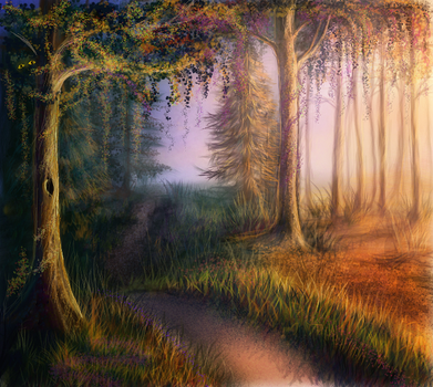 magic forest by MariaHobbit