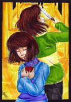 [Undertale] Frisk i Chara by Agnaartis