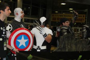 Captain America, Wolverine, and Gears of War by VoiceofSupergirl
