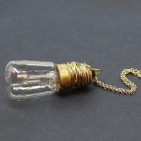 Light Bulb Steampunk Necklace by Tanith-Rohe