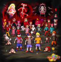 Earthbound Series 25th Anniversary by Snowhead-64