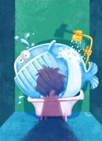 Whale in the bathroom by zecarlos