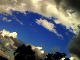 Cloudy Blue Sky by bismad