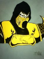 Scorpion (Mortal Kombat: Armageddon) Colored by Obi-Waton