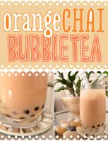 Orange Chai Bubble Tea - Vegan by ponychops