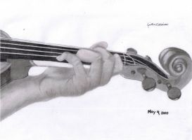 my fingers on my viola by tintin33