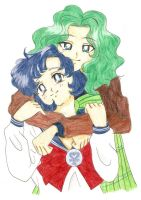 Michiru and Ami by OukaWolf46