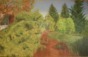 Colored Pencil Landscape by peanutbuttahhh