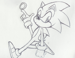 Break Sketch: Sonic by JuicedSodah