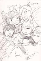 All Together Again -Sketch- by Minish-Mae