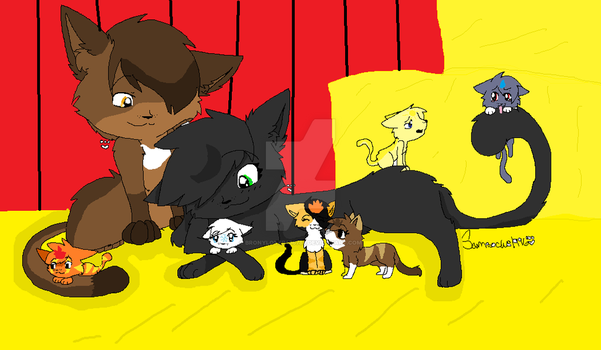 Moonpelt and Eaglestrike's kits by bronylover456789