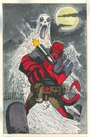 Hellboy vs. Shriek. by hedbonstudios