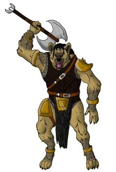 Gnoll Barbarian Digital by Jhumperdink