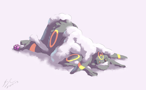 Sis's Surprise Powder Snow Attack by Cabbion
