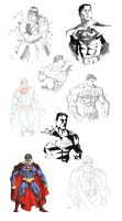 Superman Sketch Dump by GavinMichelli