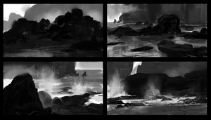 BW thumbnail sketches by parkurtommo