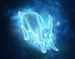 Rabbit Patronus by Searii