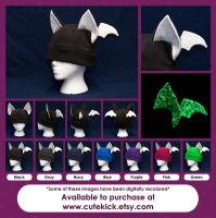 Glow in the Dark Bat Hat by cutekick