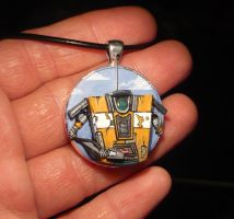 ClapTrap - handsculpted Pendant with Emerald-Eye by Ganjamira