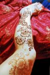 Hennaed leg by cydienne