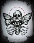 DEATH MOTH tattoo design by MWeiss-Art