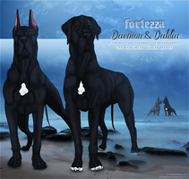 Daemon and Dahlia Refs by reinafawn