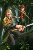 Legolas and Tauriel by GenghisKwan