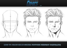 How to Draw Heads - Male Portrait by ClaytonBarton