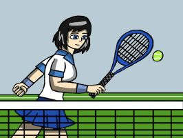 Christina Practicing Tennis by RedPhoenix15