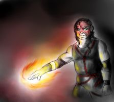 Masked kane colored sketch by FuriarossaAndMimma