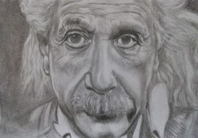 Sketch of Albert Einstein by NJSFX
