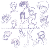BEYBLADE BEYFANTASY SKETCHES4 by SlumberPoppy
