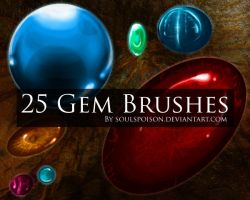 25 Gem Brushes by soulspoison