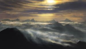 Cloudsy mountains by elufie