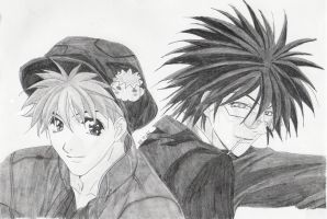 Getbackers--Ginji and Ban by Nayami-chan