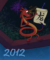 2012 - Year of the Dragon .: Mushu :. by levy120