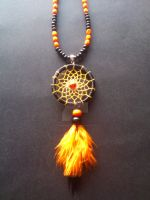 black dreamcatcher necklace by Vision4LifeCro