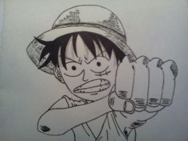 Luffy first take by CronoCain