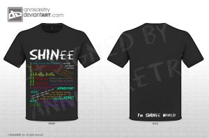 SHINee Lyrics T-Shirt by annisaretry