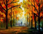 Farewell to autumn by Leonid Afremov by Leonidafremov