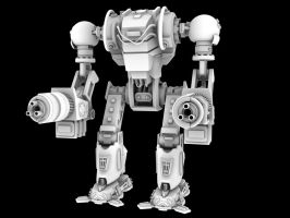 Big Bad Mech with no textures by Donvius