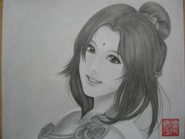 Peerless Beauty (Drawing in 2010) by yipzhang5201314