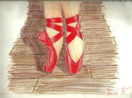 Red pointe by MariaMC