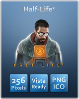 Half-Life 2 A Vista Ready Icon by Th3-ProphetMan