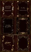 Jewelry frames backgrounds by Lyotta