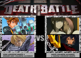 Death Battle, Sora and Edward VS Dante and Vanitas by 4xEyes1987