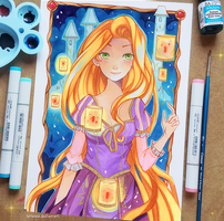 Commission - Rapunzel by larienne